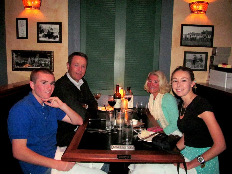 My family (minus my sis) and I at my favorite restaurant.