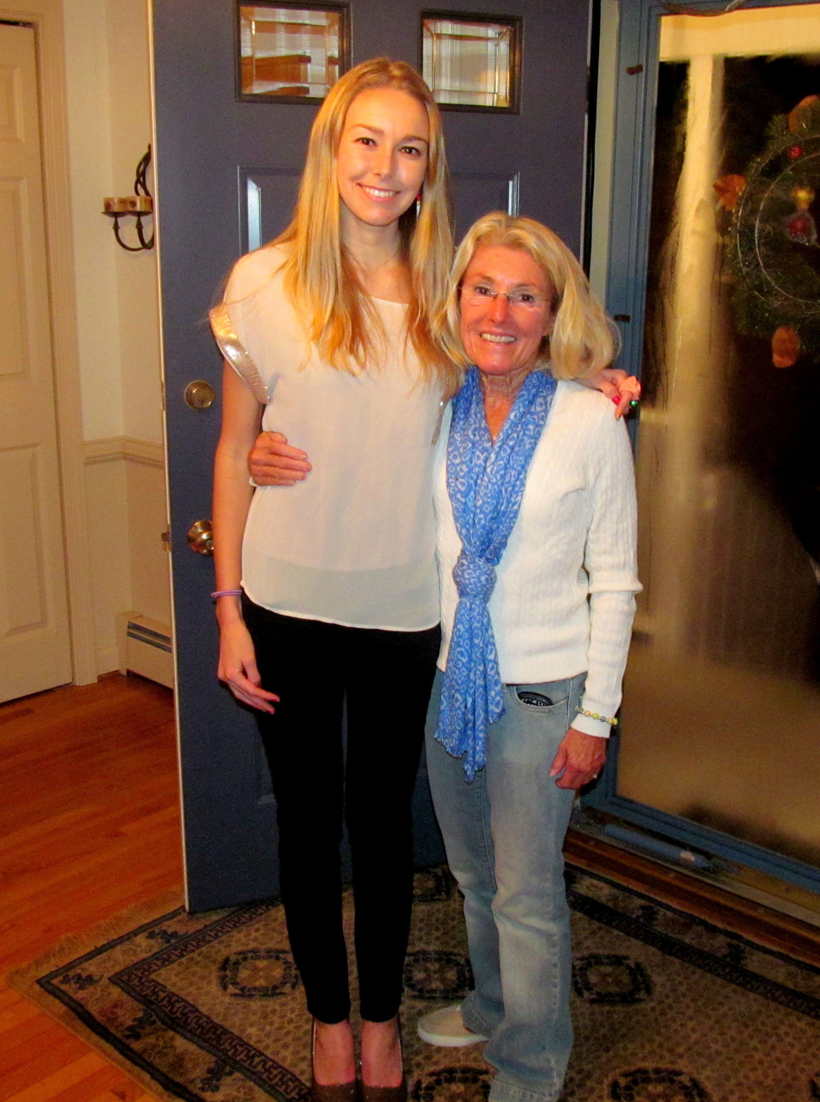 Mom and I at the party - my heels highlight our height difference!