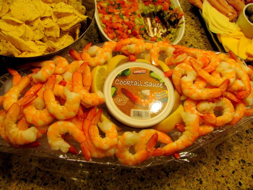 Plenty of shrimp showed up.