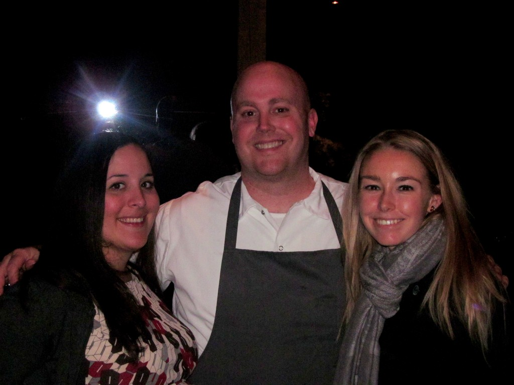 Kat, Chef Tyler Anderson, and me!