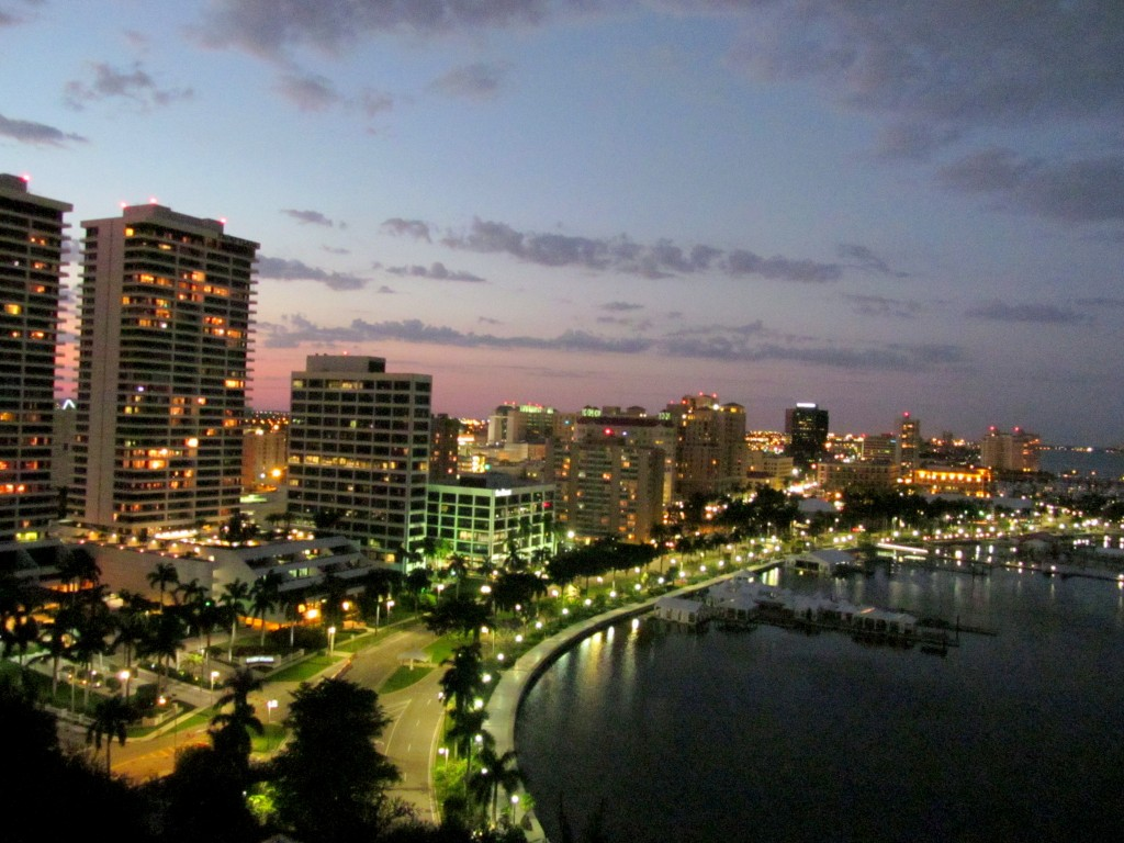 The view of West Palm Beach from Top of the Point - oh yes. I could meditate with this view all day/night.