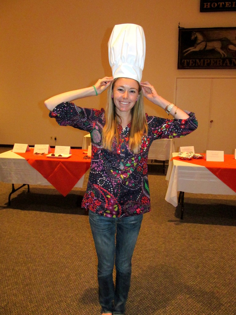 These obnoxious chef hats made adorable table centerpieces!