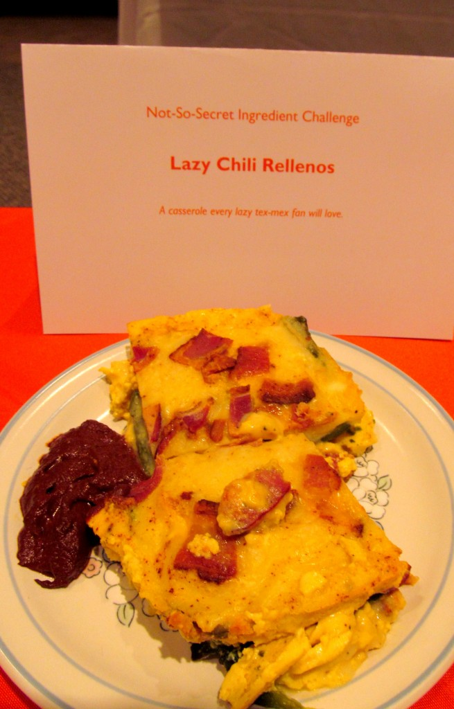 It was like a bacon and poblano frittata, with chocolate mole sauce. Incredible!