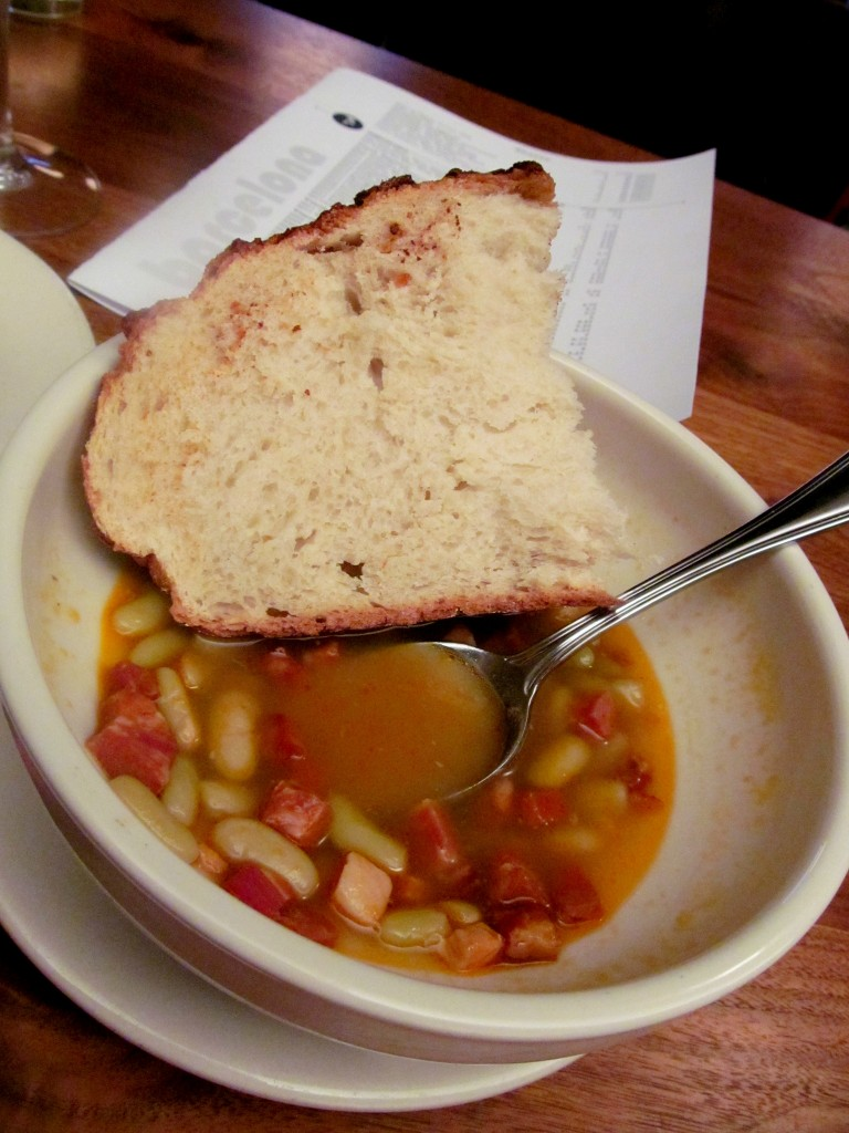 Another winning soup by Chef Alex - pancetta, chorizo, and beans in a heavenly broth.