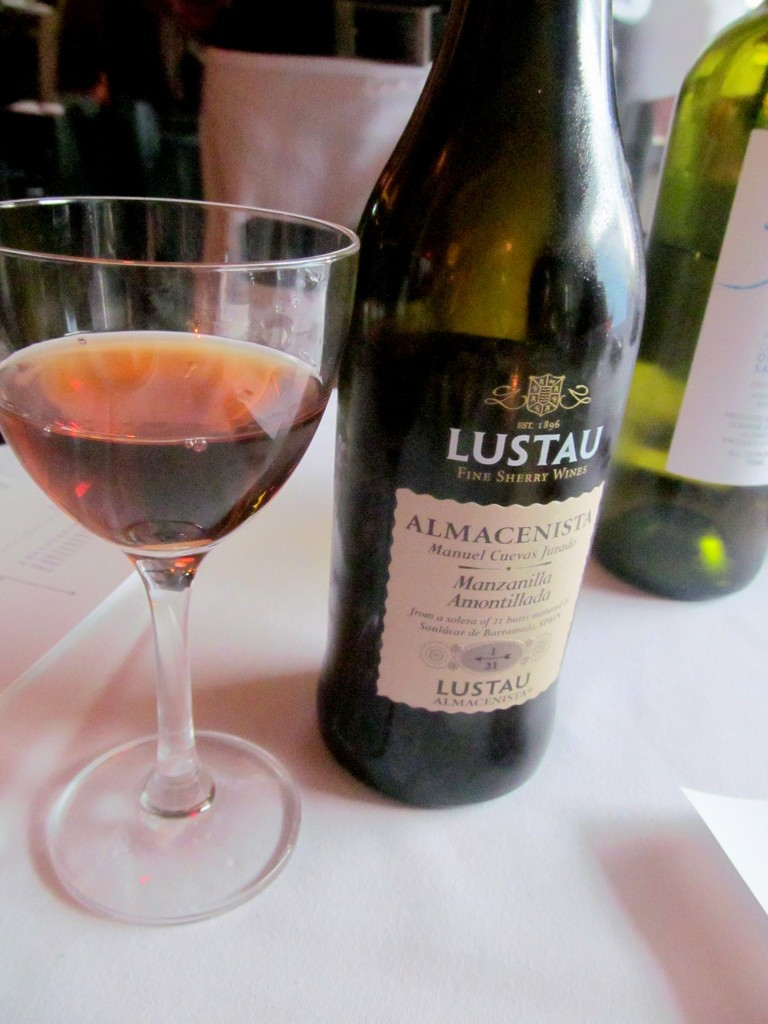 This sherry lover was VERY pleasantly surprised to see it pop up so early in the meal!