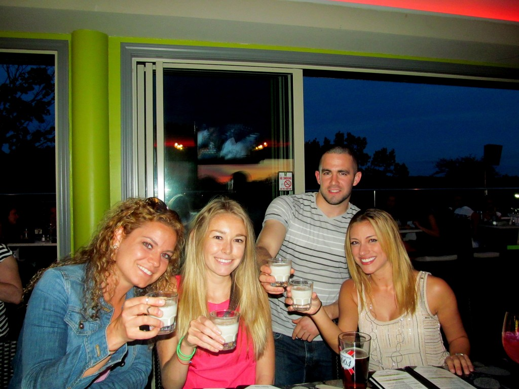 Delicious Crown Royal Maple, Frangelico, milk, cinnamon shots (by Andres of course) at Rooftop 120!