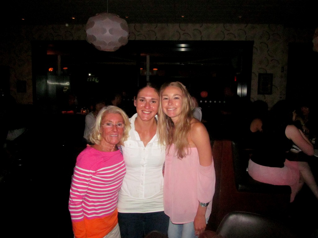 Mom loved beautiful bartender/fashionista Anna, as well as her wine recommendations!