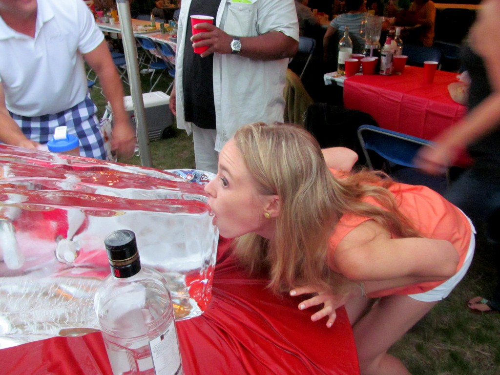 If anyone can make ice luge shots look awkward, it's me.