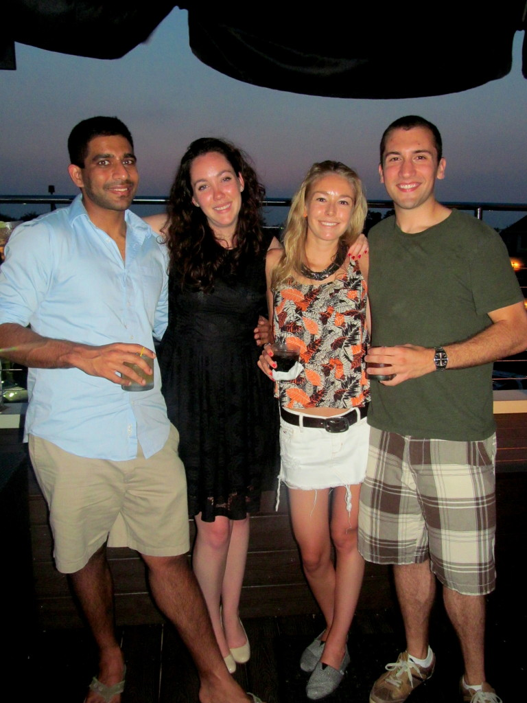 UConn reunion: Ravi, Kelly, me, and Jeff.