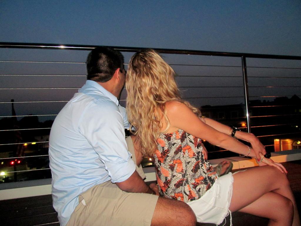 Aladdin and Blonde Jasmine AKA Ravi and I on a magic Rooftop carpet ride...