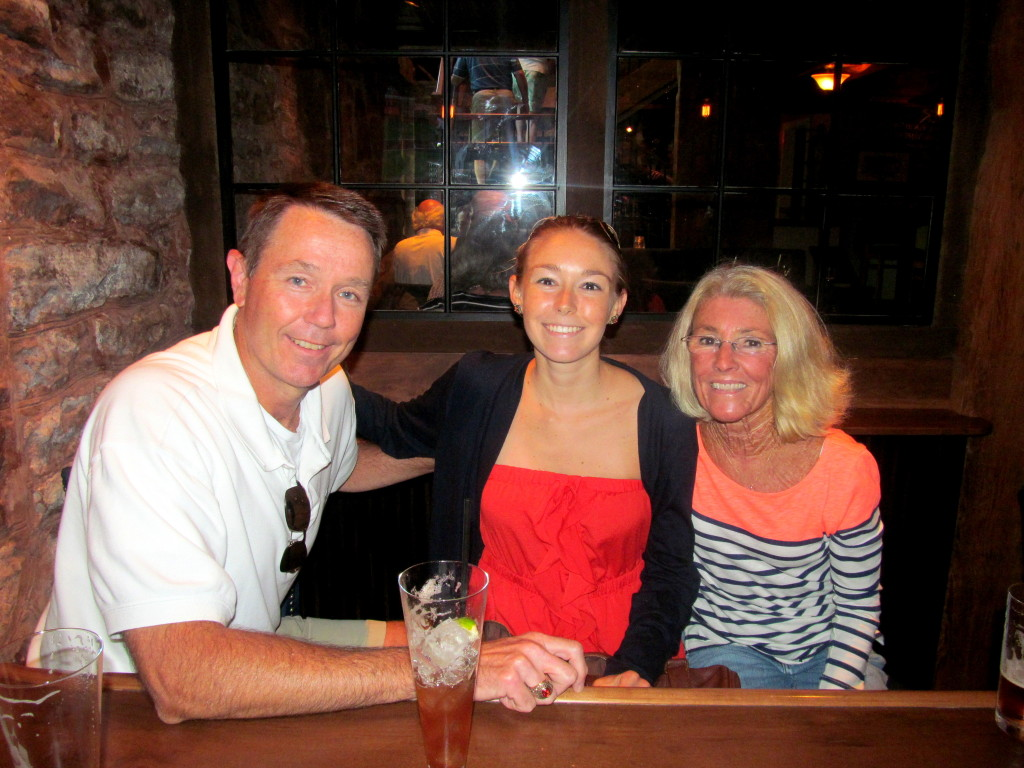 Dad, me, and Mom in the tavern!