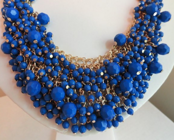 Cobalt Beauty Necklace - $28