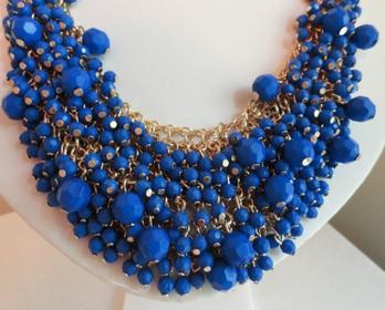 Cobalt Beauty Necklace - $28