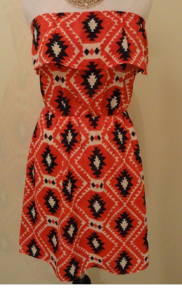 Patriotic Tribal Print Dress - $40
