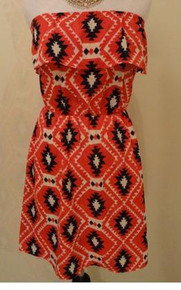Patriotic Tribal Print Dress - $40