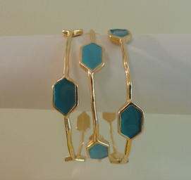 Turquoise Bangles - $14