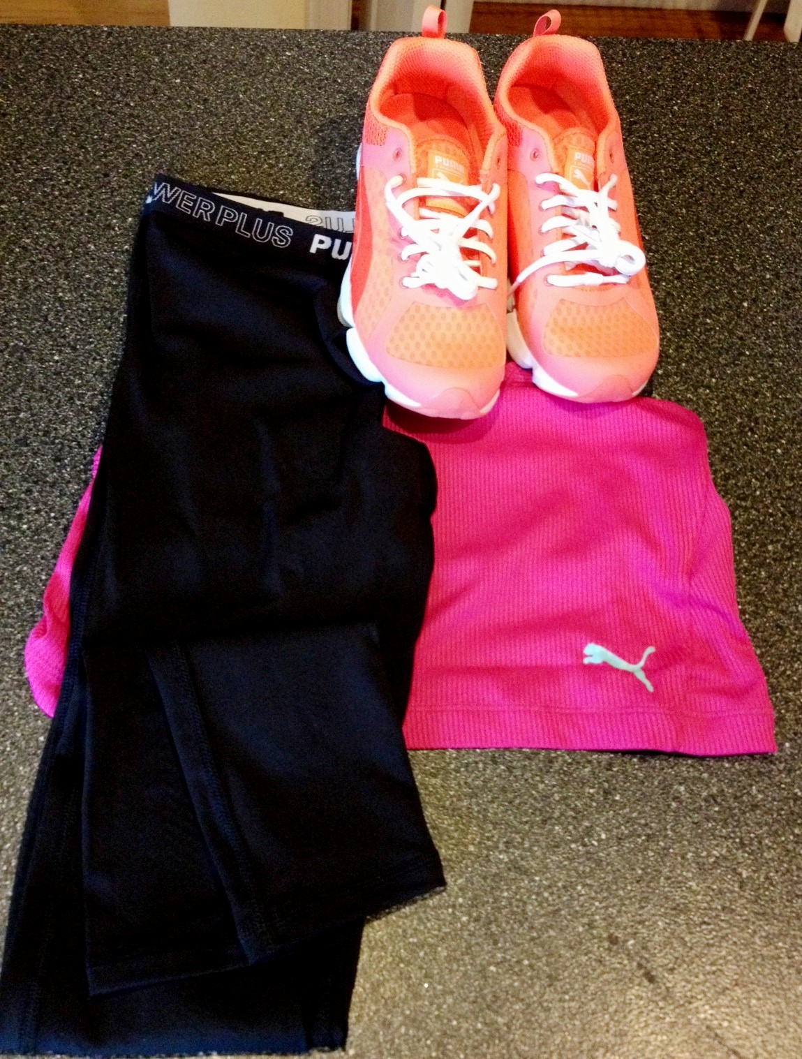 They know my signature workout gear color - pink!