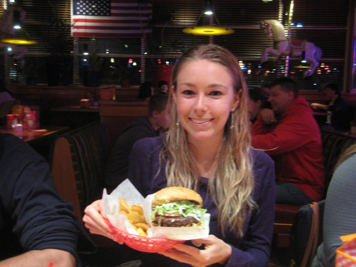 My very special Red Robin burger - eaten for my 22nd birthday.