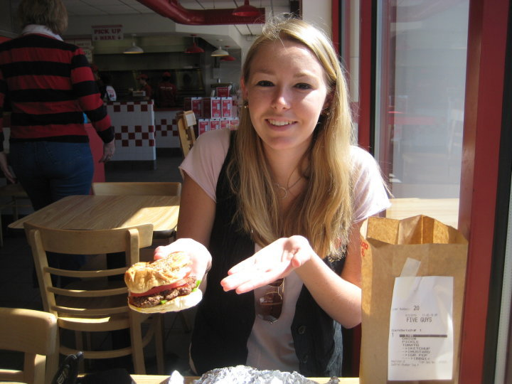 My first trip to Five Guys (alas I left unimpressed and have never been back).