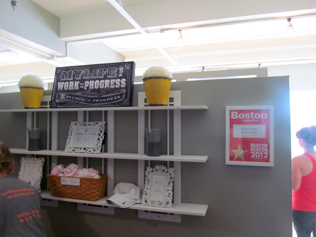 This is the sight that greets visitors when they first enter the Boston Common studio.