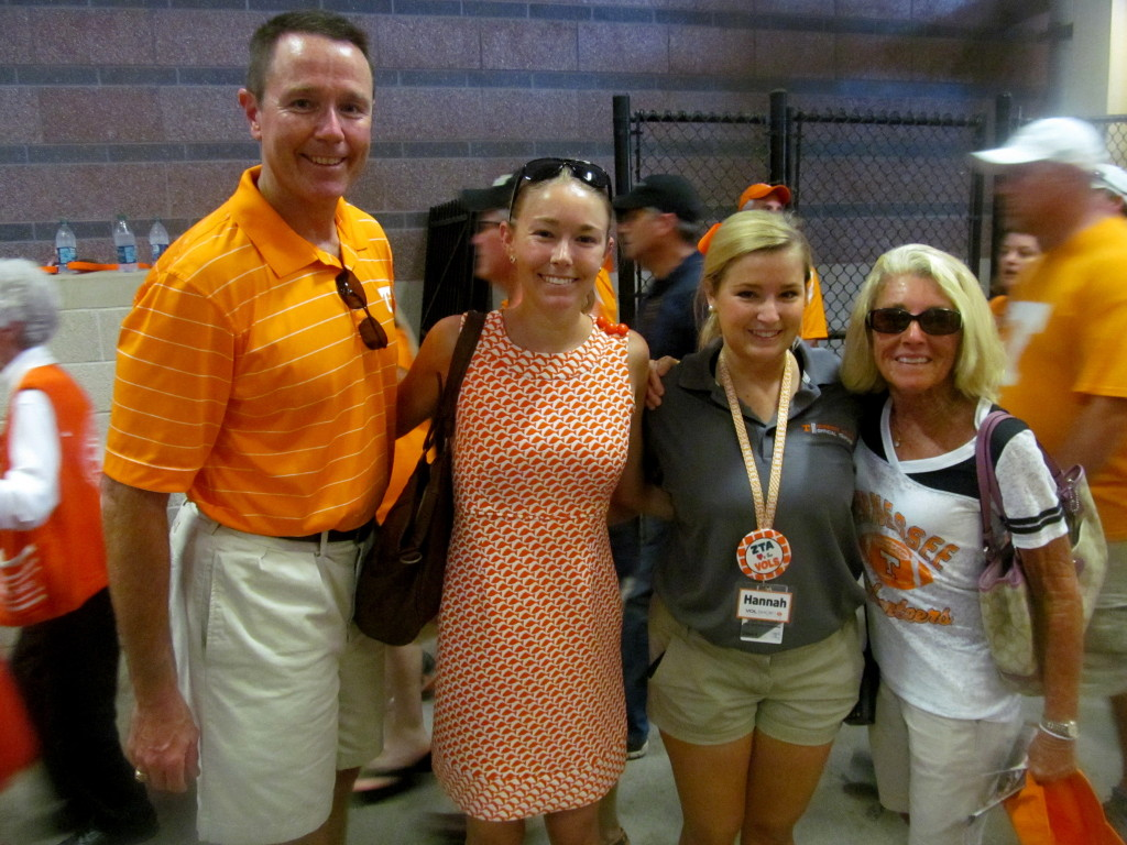 The fam (minus my bro) visited Hannah-Vol at her job in the stadium's Vol Shop!