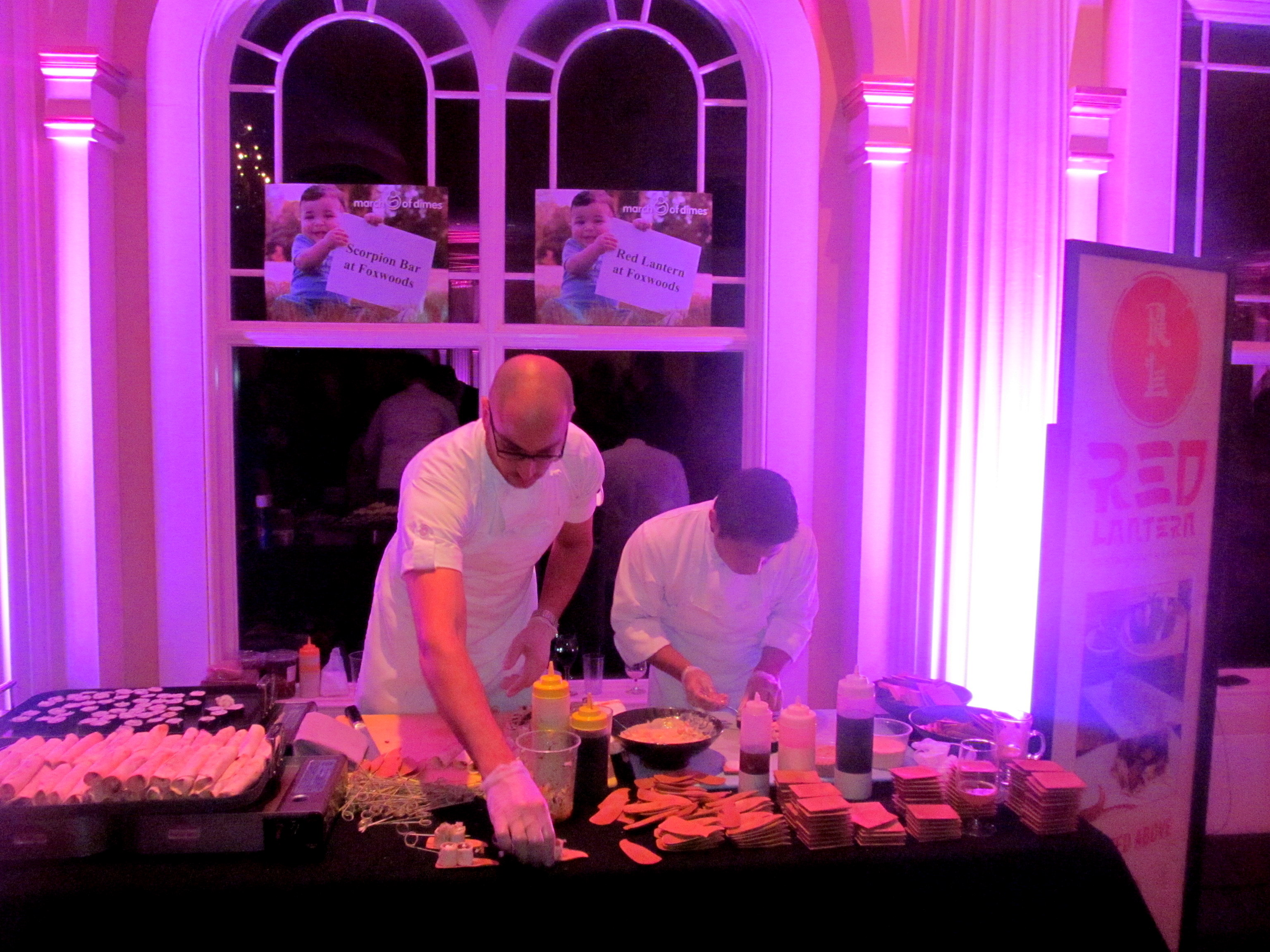 Red Lantern and Shrine chefs at work.