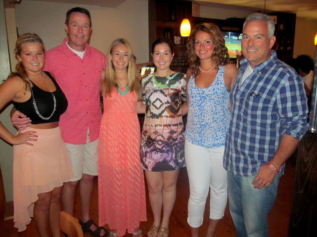 The Croswell and Cunningham dads and daughters!