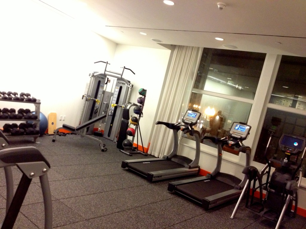 Perk of staying in a hotel instead of at a friend's place...gym access!
