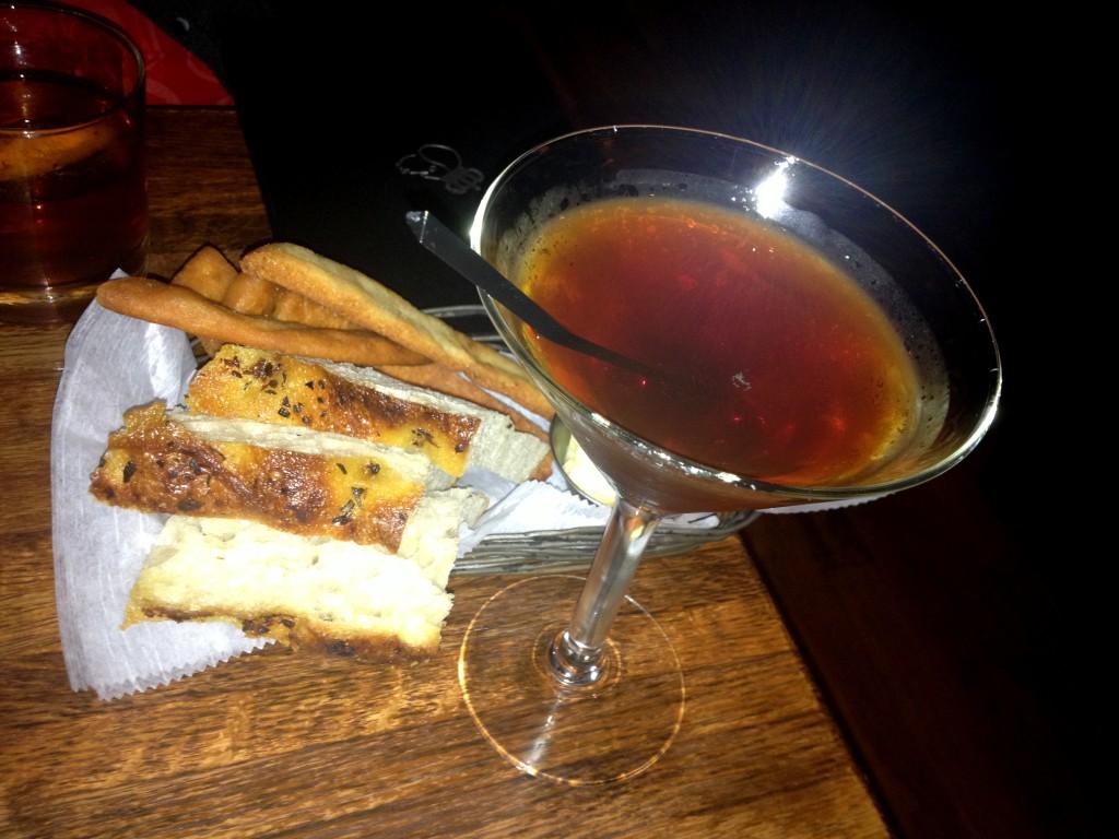 My cocktail was very me - The Dark Ryeder (Rittenhouse 100 Rye, Angostura Bitters, sweet vermouth, amarene cherry).