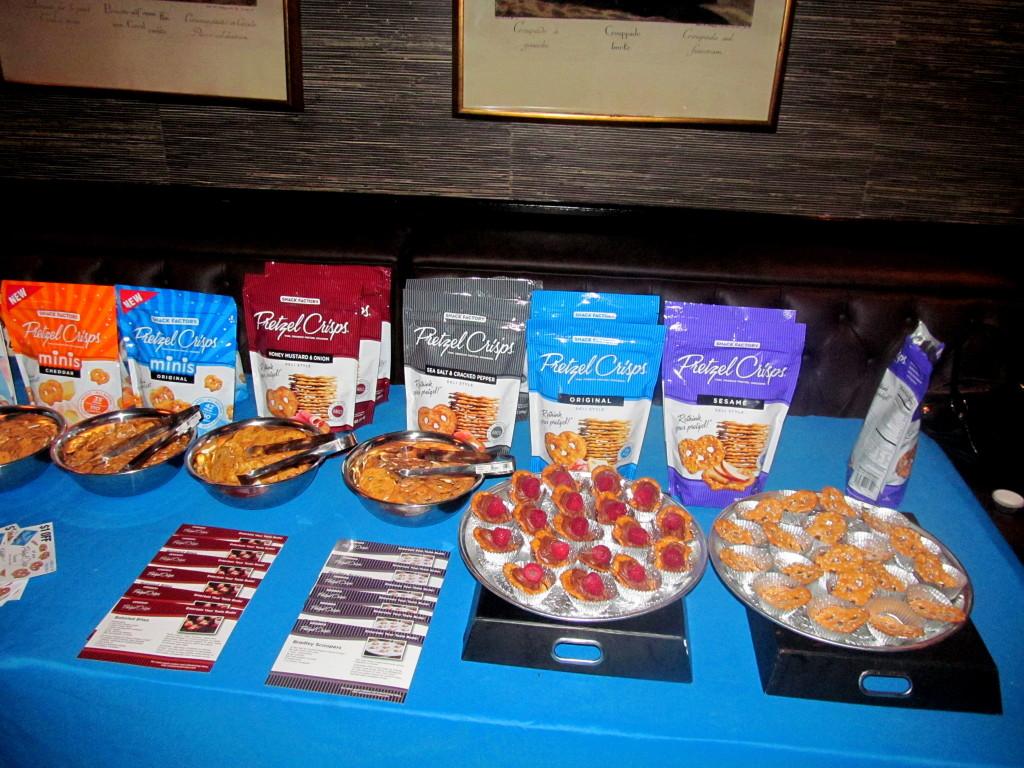 Pretzel Crisps served fruity, chocolaty, salty treats.