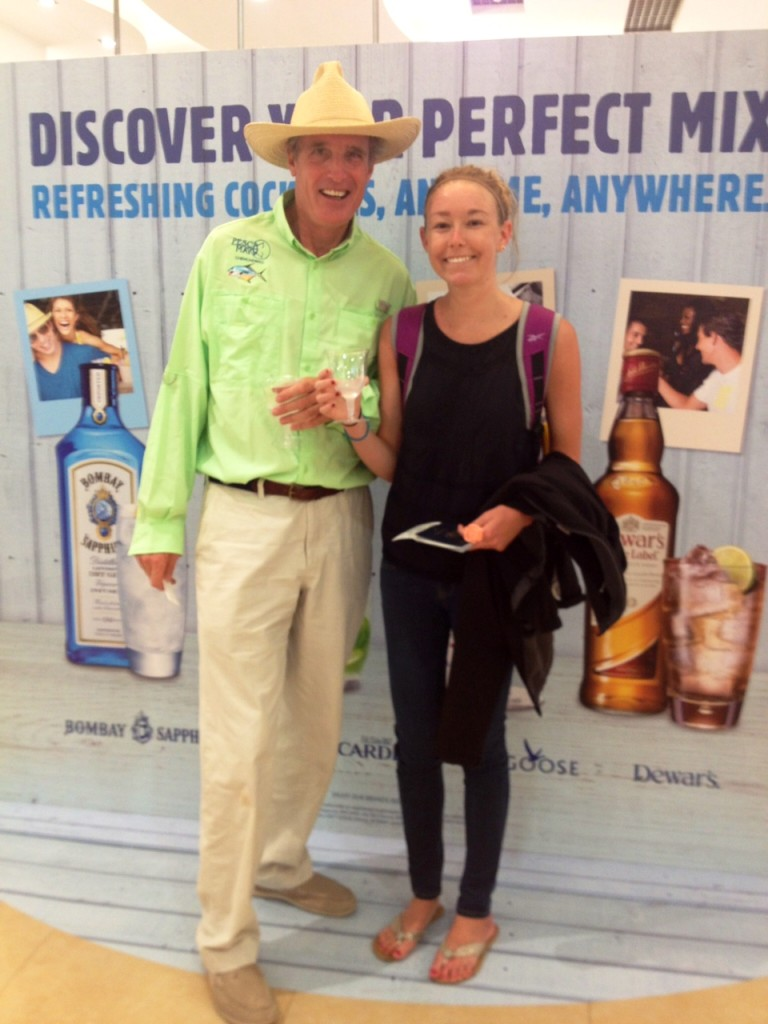 Before boarding the plane though, I did make a new friend from Ohio. He wanted to pose with me as I showed off the gin & tonic sample I received IN THE AIRPORT. Gotta love the duty-free shop in Mexico.