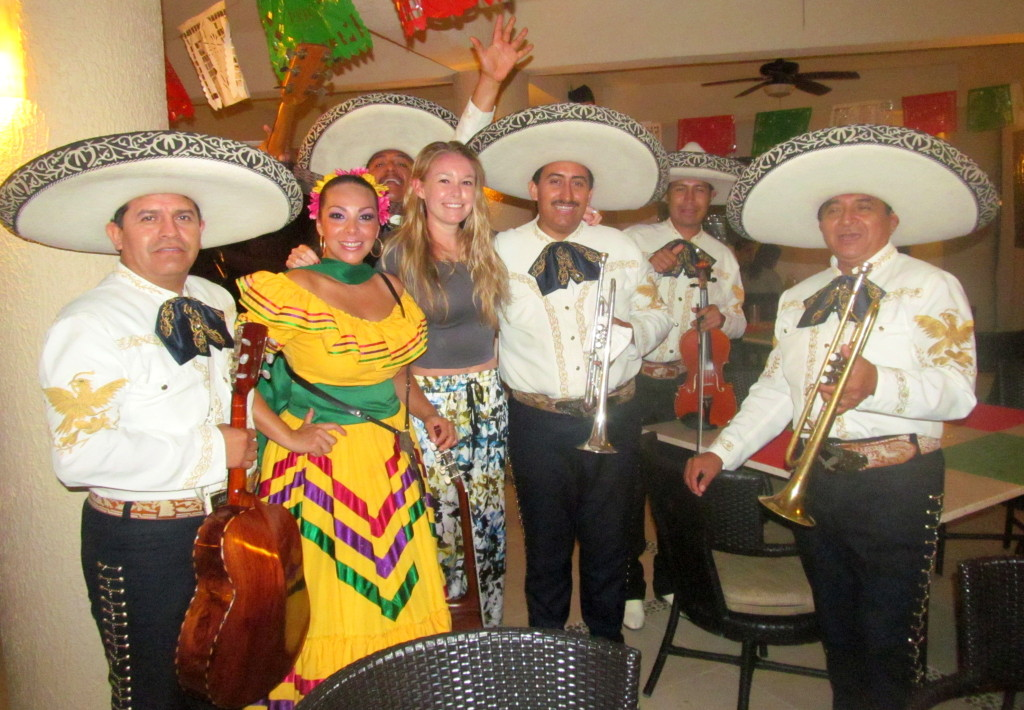 My first night feeling 100%, a mariachi band sang to me for my birthday!
