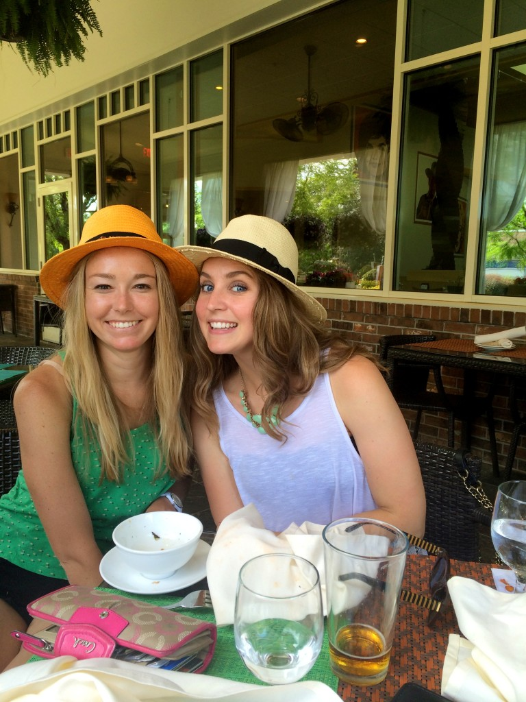 We had a snack and drinks at Pond House Grille with Hannah and her best friend Abbey, obviously in matching hats.