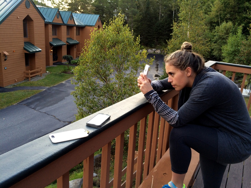 Intense outdoor Instagramming by Marissa.