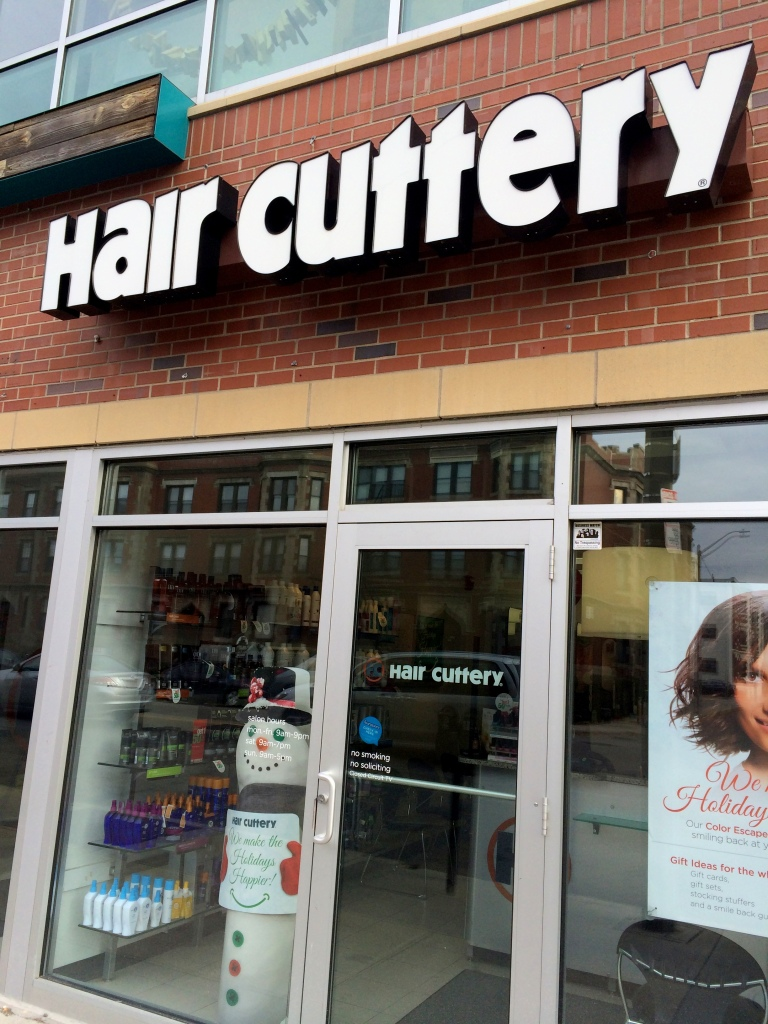 A visit to the salon locator revealed to me a Hair Cuttery just around the corner from me. I'd walked right by it many a time and never noticed it!