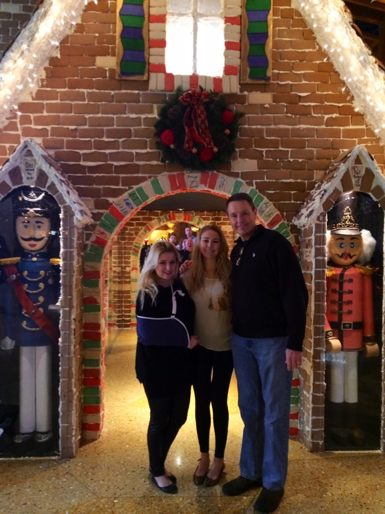 It's no tree, but a REAL giant gingerbread house adorned with two nutcrackers is pretty awesome too!