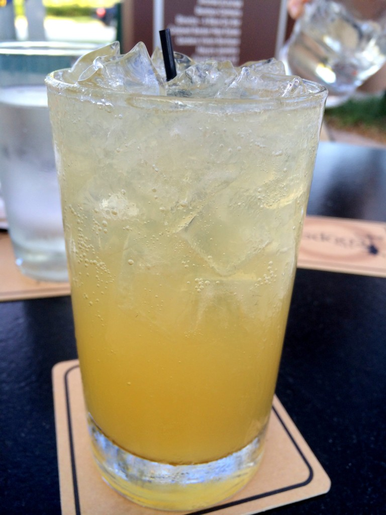 The Dancing Scotsman - scotch, lemon juice, honey, and bubbles.