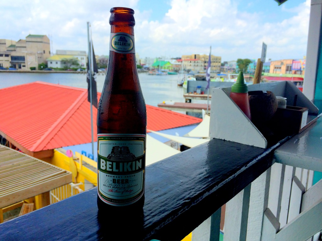 Local beer in Belize!