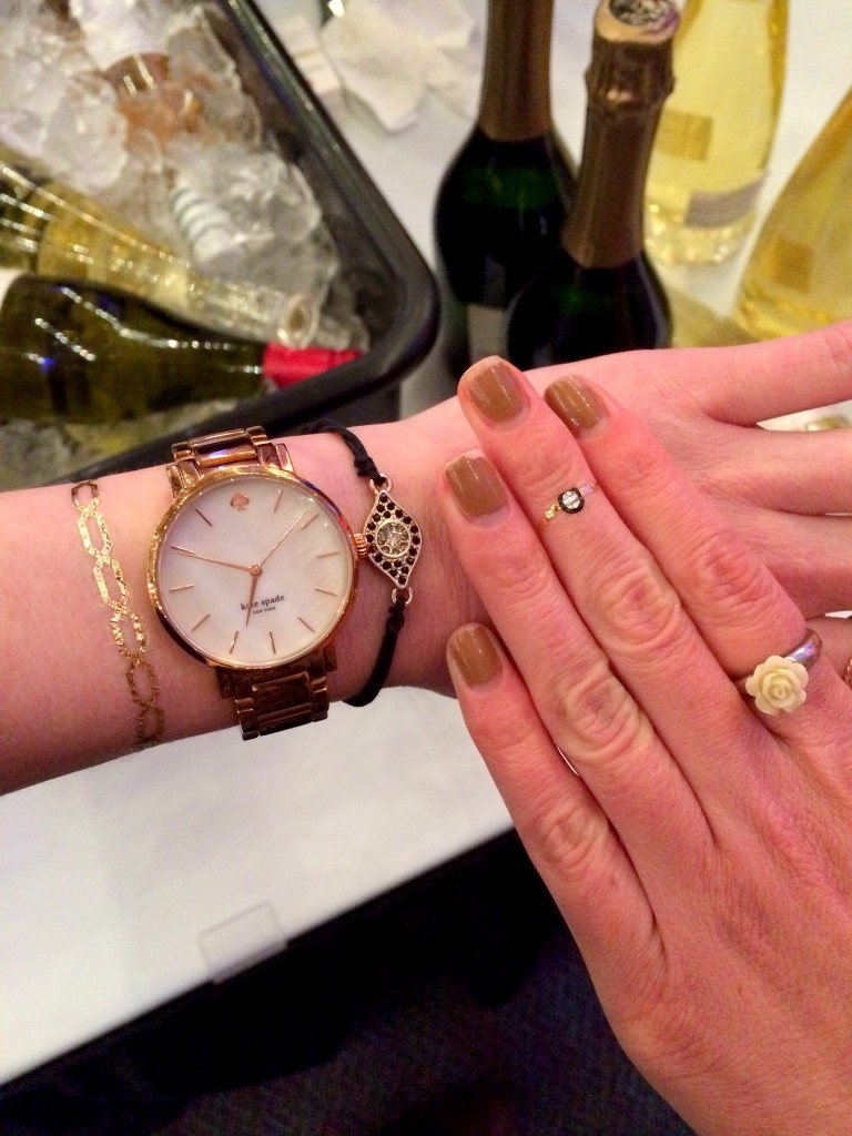 I love love love the little ring flash tat! And doesn't Emily's bracelet tat go great with her arm party?