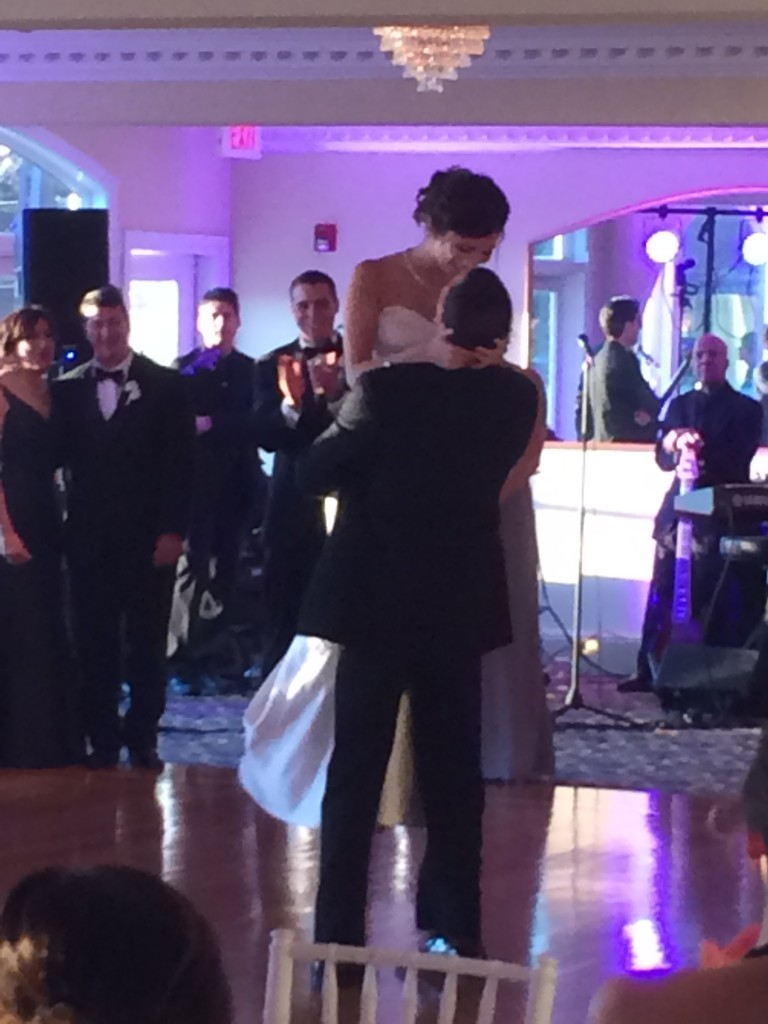 "The tear-inducing first dance to Brad Paisley's ""Then""."