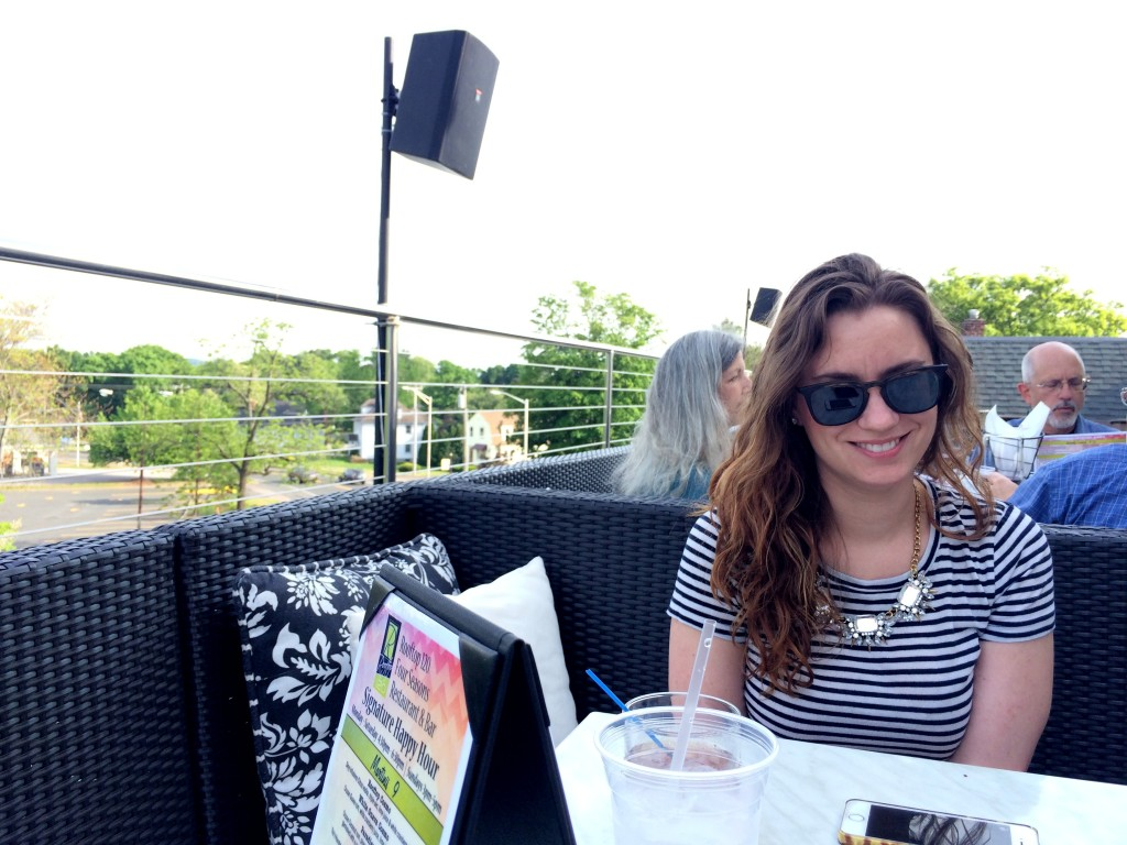 Had to take Emily for a drink (or two) at Rooftop 120 - the weather was perfect for it!