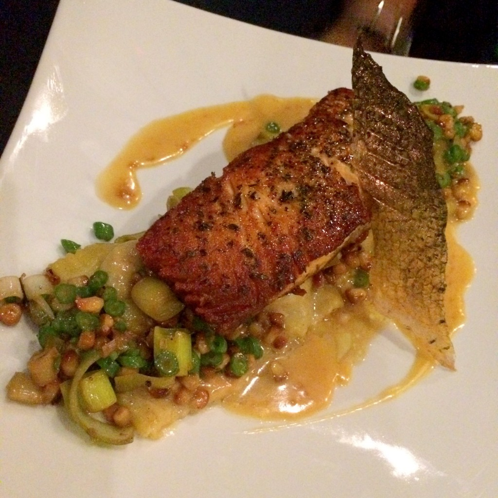 The evening's salmon special featured DRINKmaple, which balanced perfectly against the dish's smokey notes.