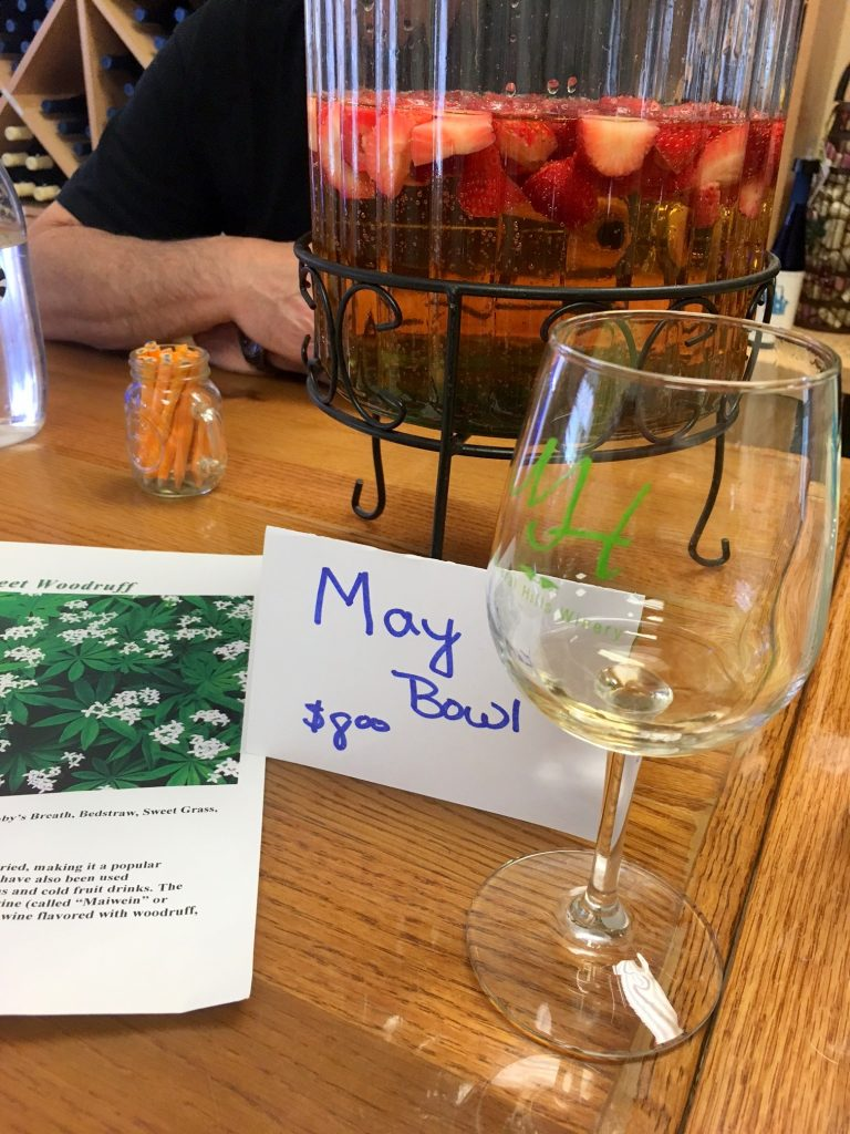 Larry greeted us with tastes of May Wine, which is a German beverage traditionally served on May Day.
